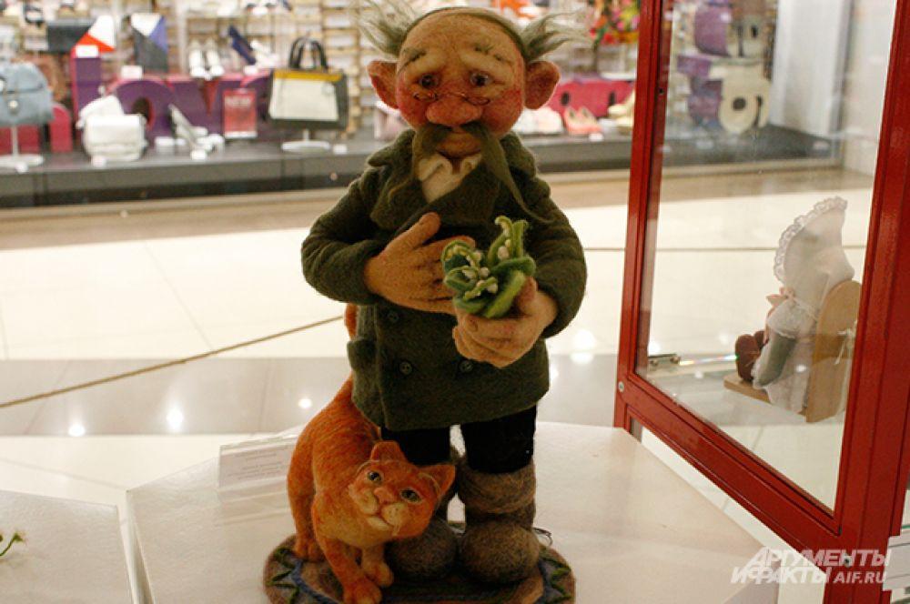 Куклы из войлока очень мягкие и душевные
