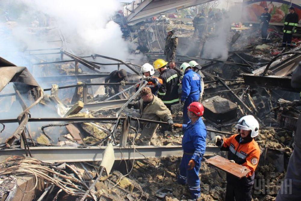 Взрыв на АЗС в Переяслав-Хмельницком