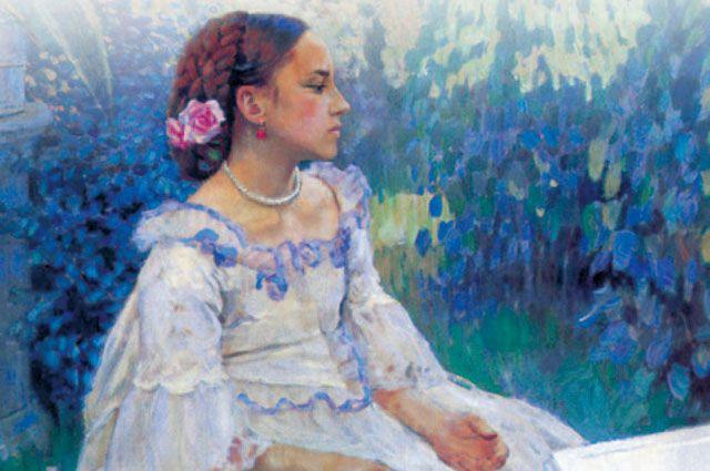 Фрагмент иллюстрации к обложке романа Владимира Набокова «Машенька».