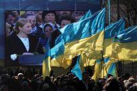 Юлия Тимошенко на съезде партии «Батькивщина» по выдвижению кандидата на внеочередных выборах президента Украины.