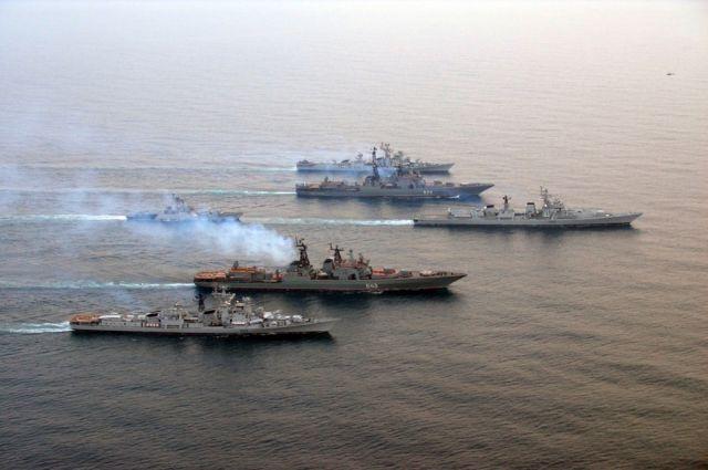 Учения ТОФ в Индийском океане