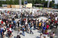 Выставка ретро-велосипедов в парке «Сокольники».