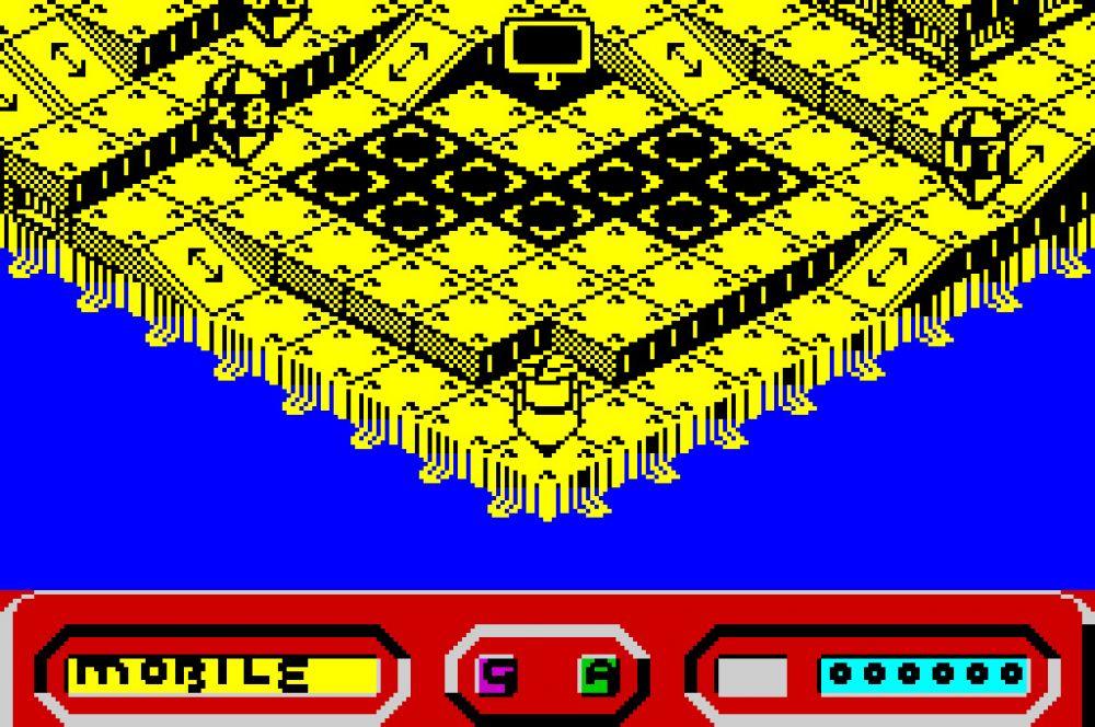 В игре Quazatron пользователю предлагалось очутиться в гигантском городе роботов. При помощи своего персонажа – робота-разведчика – геймеру необходимо захватить город. Одной из особенностей игры была возможность выбора различных режимов действия, что на фоне линейных сюжетов других проектов было новым веянием.