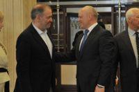 Виктор Назаров и Валерий Гергиев побеседовали после концерта.