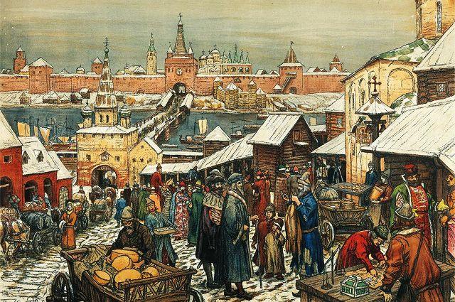 «Новгородский торг» Аполлинарий Васнецов.