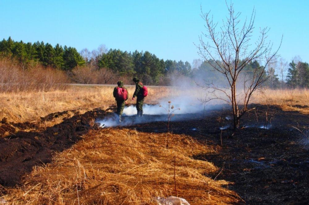 Владельцы частных домов и садоводческих участков должны помнить, что пожар может возникнуть от одной искры, поэтому надо максимально обезопасить себя и очистить от сухой травы приусадебные участки.