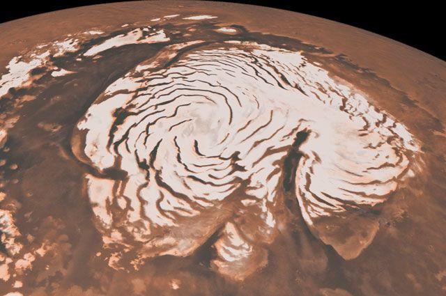 Северная полярная область Марса.