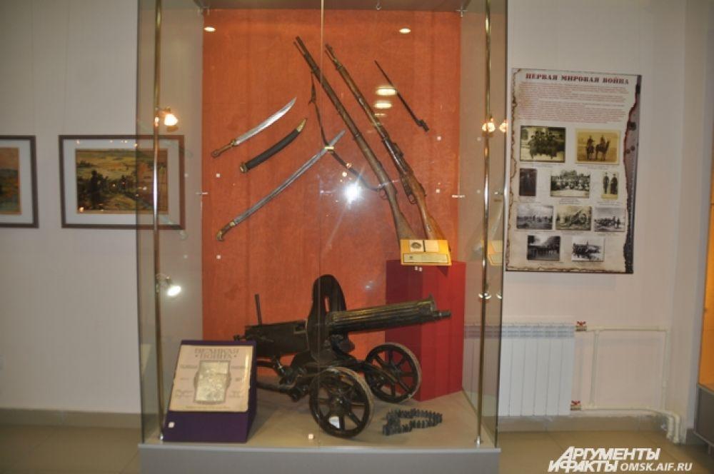 Выставка огнестрельного оружия в Краеведческом музее.