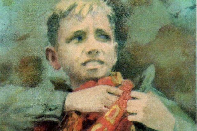 Репродукция картины «Костя Кравчук». Художник Иван Сущенко, 1971 год.