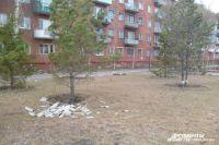 На Омск обрушился ураганный ветер.