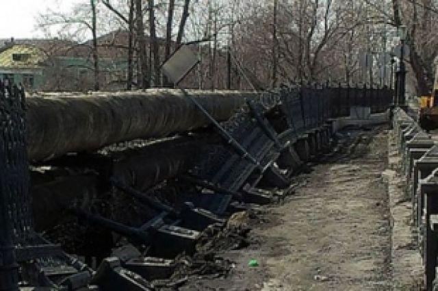 Бесхозный висячий мост в Каменском районе грозит обрушением