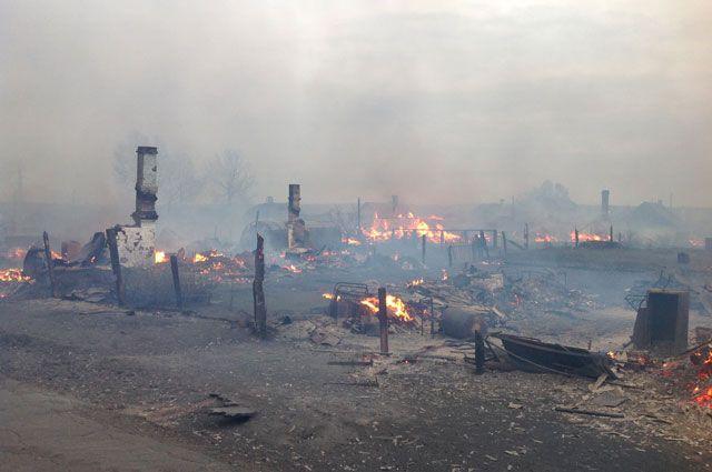 Огненная стихия уничтожила 18 жилых