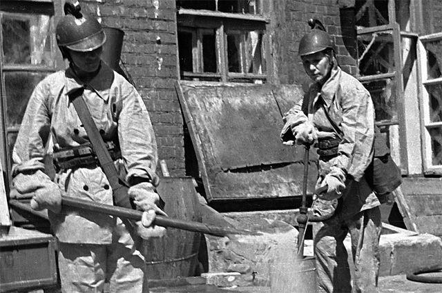 Пожарный расчёт. Москва, 1941 год.
