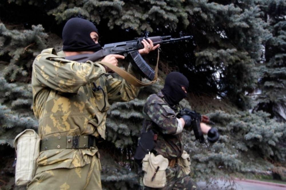 Штурм МВД в Луганске