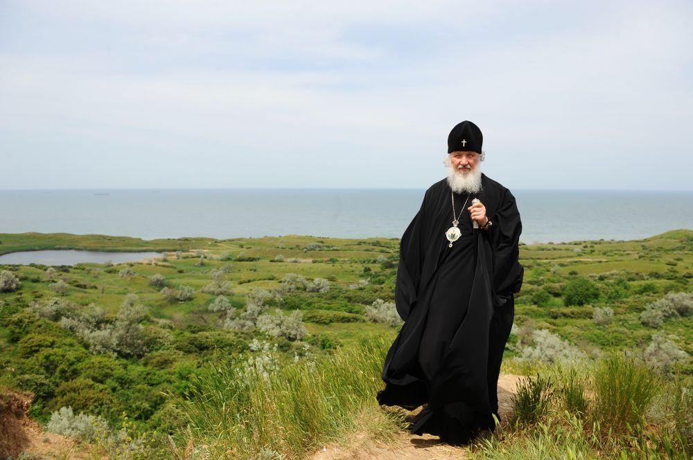 Патриарх на Валааме, одном из любимых мест на родной земле.