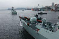 совместные российско-китайские морские учения, архивное фото