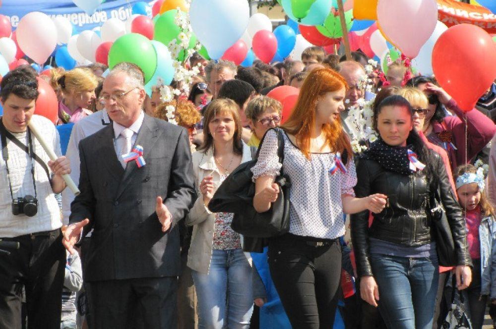Участники мероприятия пришли на праздник вместе с друзьями или с семьей