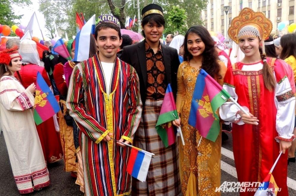 Молодежь из Краснодарского центра национальных культур.