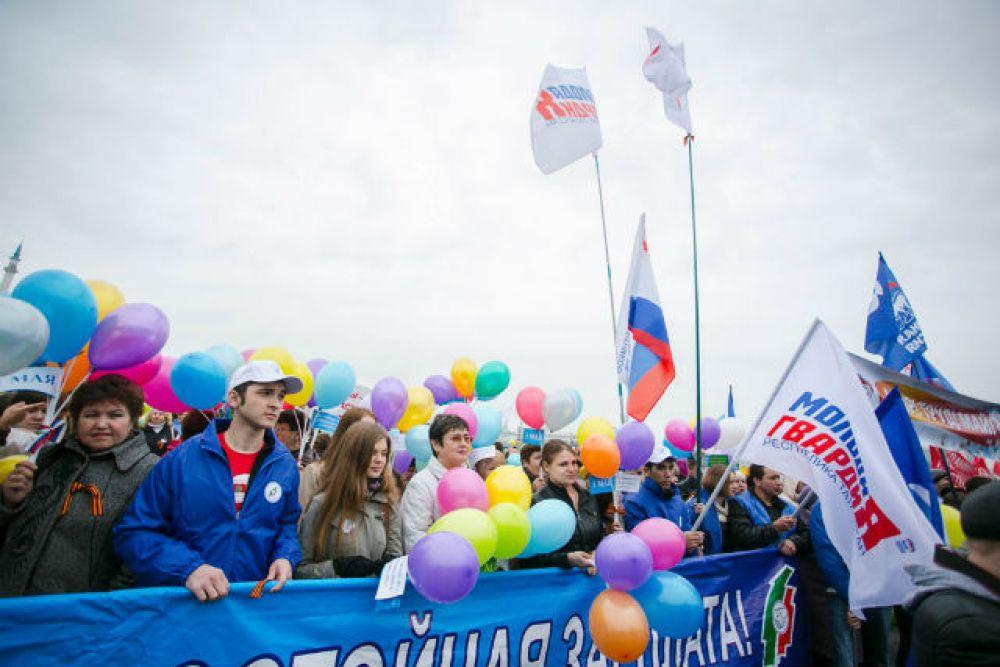 Акция под лозунгом «Достойный труд – справедливая зарплата!» собрала несколько тысяч представителей профсоюзов, членов партии «Единая Россия».