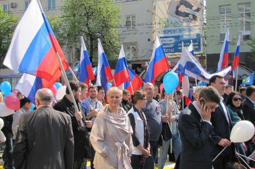 Первомайская демонстрация закончилась на Никитинской площади