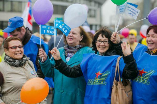 На митинге с лозунгом «За достойный труд» выступили профсоюзы