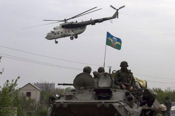 Военные в ходе силовой операции украинских сил.