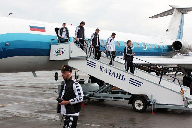 ФК «Урал» прибыл в Казань, где проведет матч с местным «Рубином»