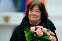 Татьяна Самойлова во время вручения ордена Почёта Президентом РФ Дмитрием Медведевым в Кремле. 2009 год.