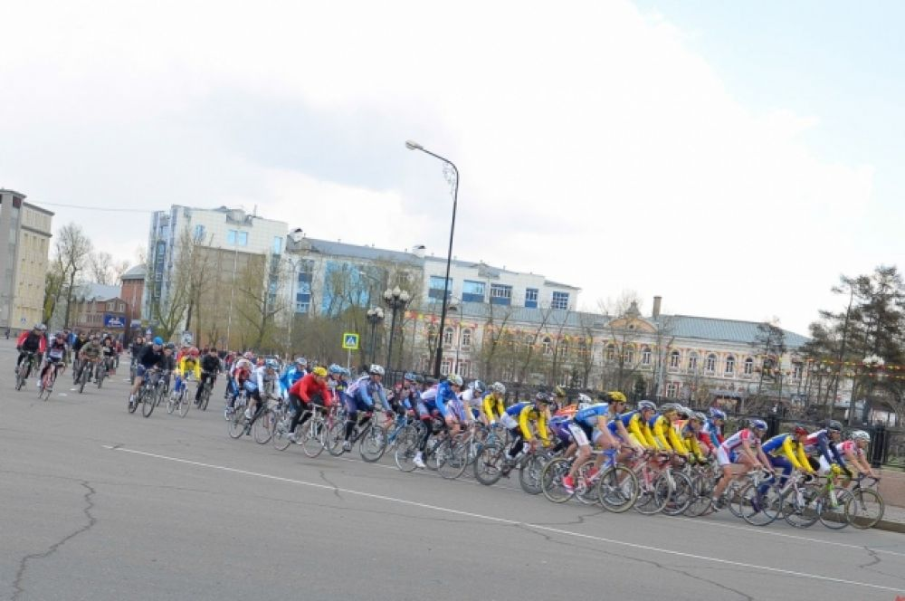 Велогонка вокруг сквера Кирова ограничила движение в центре Иркутска.