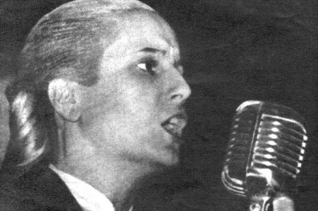 Выступление Эвиты. Фотография 1950 года.
