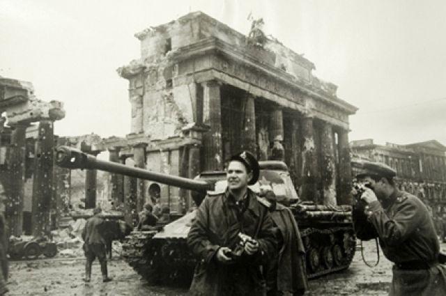 Советские войска в Берлине, 1945 год.