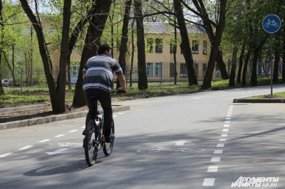 Новая велодорожка в ЦПКиО