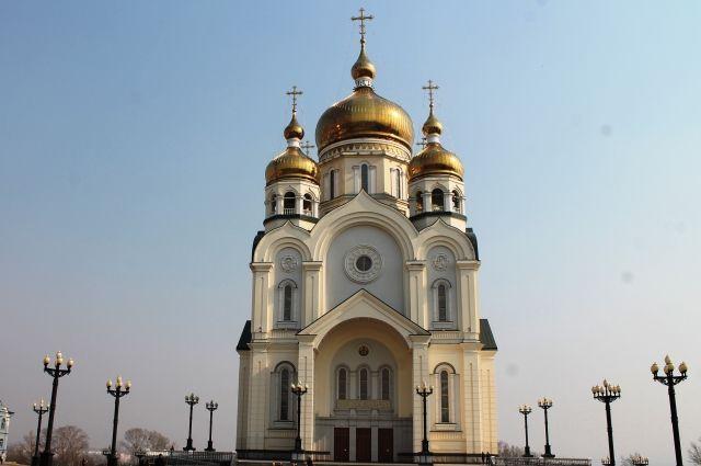 Спасо-Преображенский собор в Хабаровске - одна из работ Юрия Живетьева