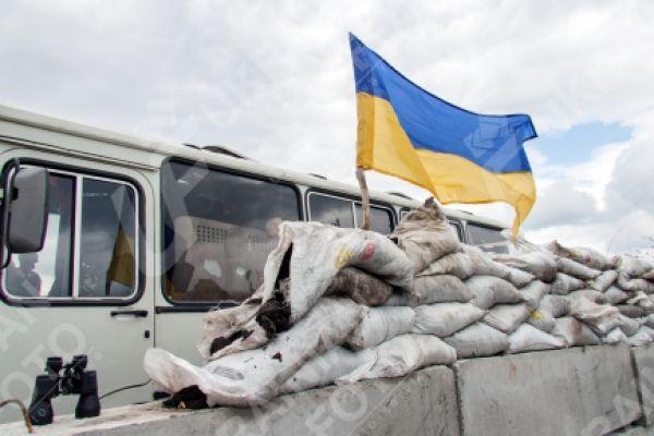Блокпост сил АТО возле Славянска