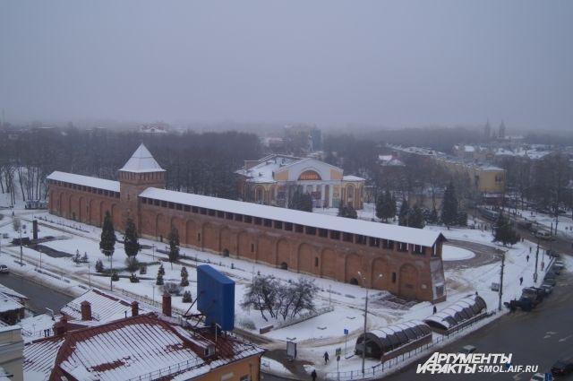 Вид на площадь Победы зимой: вскоре здесь может появиться еще один заметный объект.