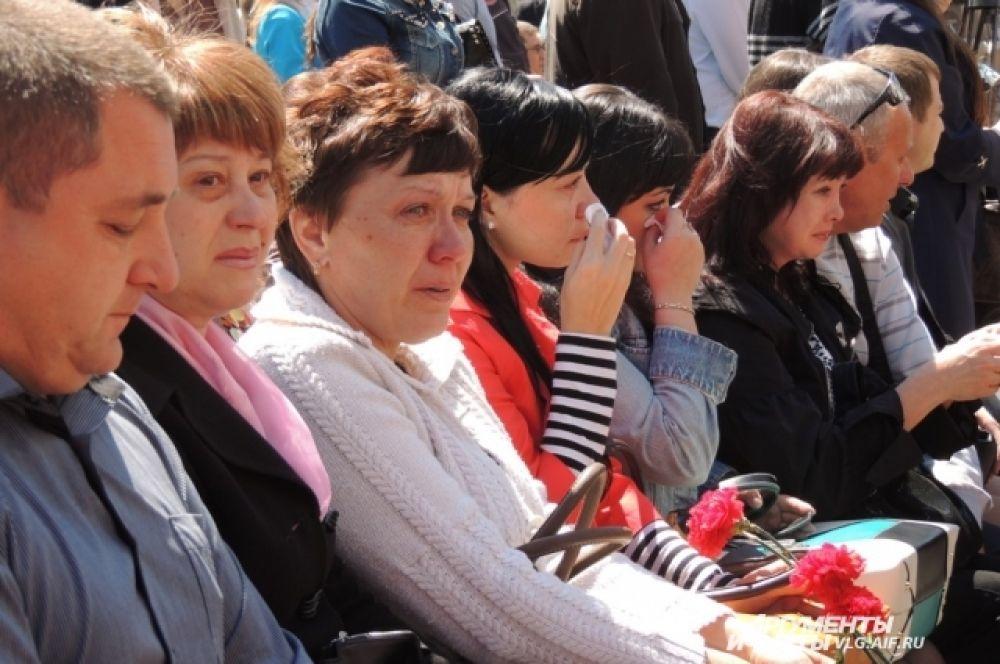 На открытие вокзала были приглашены родственники погибших.