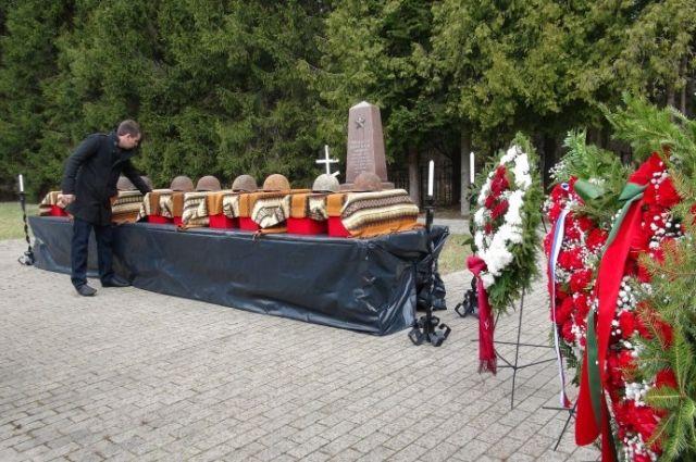 Перезахоронение красноармейцев, погибших в годы Великой Отечественной войны