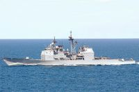 Американский крейсер «Велла Галф».