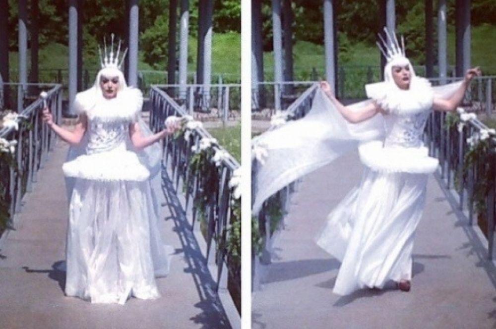 Белая Королева из «Алисы в стране чудес», травести-дива Монро