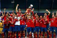 Сборная Испания после победы на чемпионате Европы 2012 года.