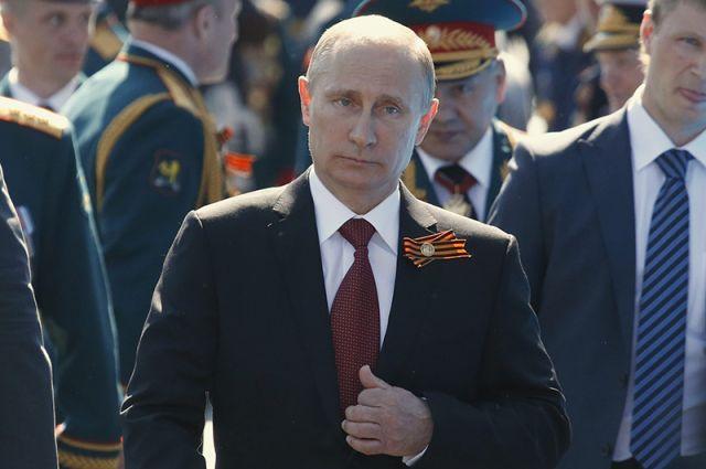 Владимир Путин на параде Победы в Москве.