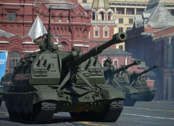 Самоходные артиллерийские установки «МСТА-С».