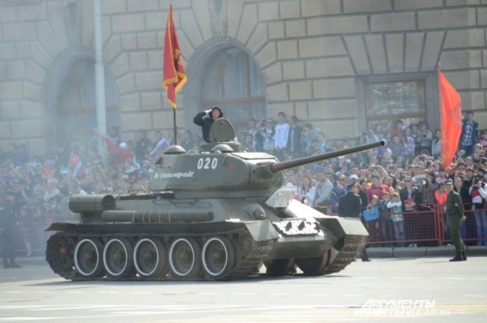 Легендарный Т-34, участвовавший в боях за Сталинград.