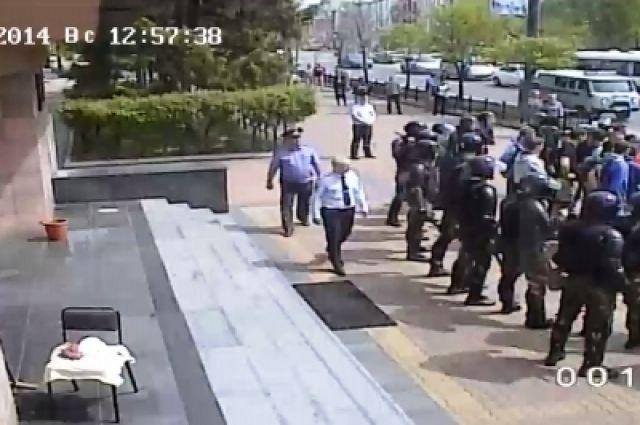 Предотвращение драки фанатов в Хабаровске