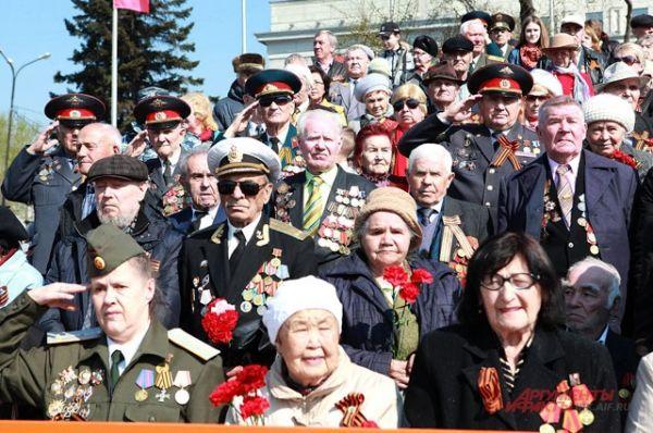 В Иркутске в День Победы собрались ветераны ВОВ со всей области.