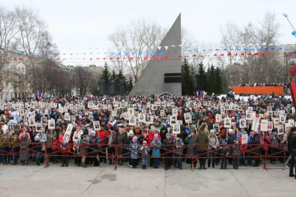 В акции «Бессмертный полк» приняли участие более тысячи северян.