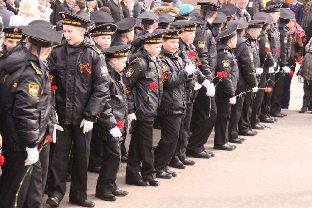 Юные кадеты.