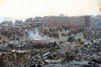 Фрагмент панорамы «Оборона Севастополя 1854–1855 гг.».