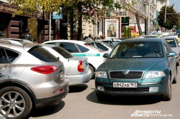 Парковка в два, три ряда...