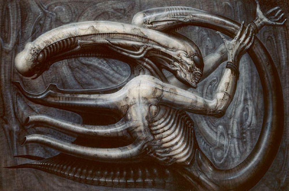 Все работы Гигера были пропитаны мистицизмом, а написанные художником организмы были выдуманы словно из другого мира.